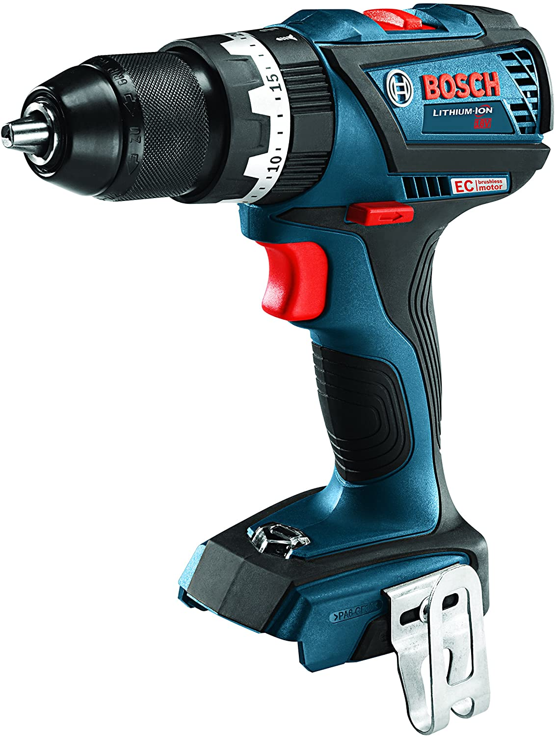 Bosch HDS183B 18V EC Brushless COMPACT Tough 1/2 In. Hammer Drill/Driver, Blue