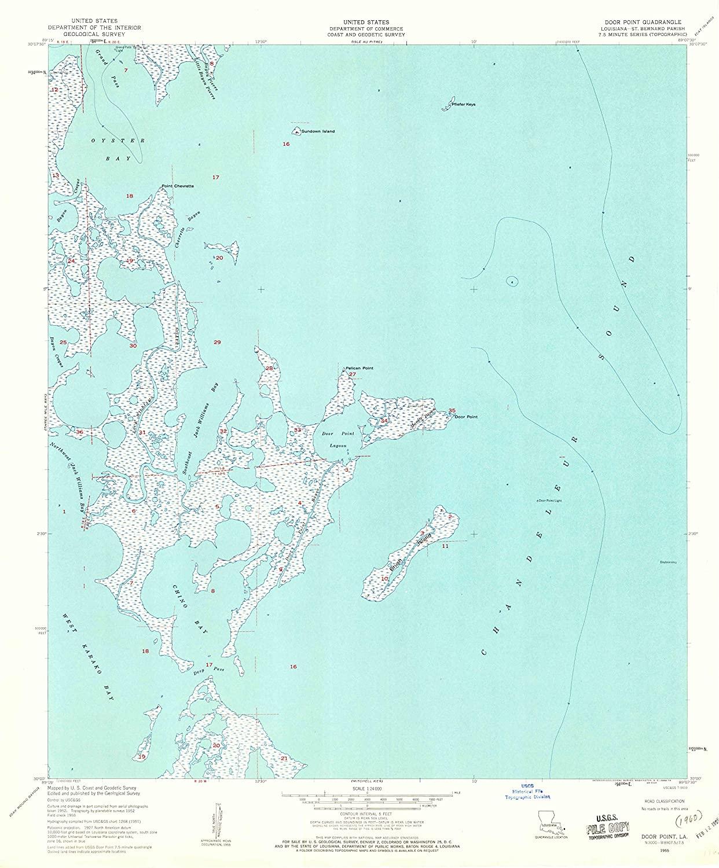 Map Print - Door Point, Louisiana (1955), 1:24000 Scale - 24