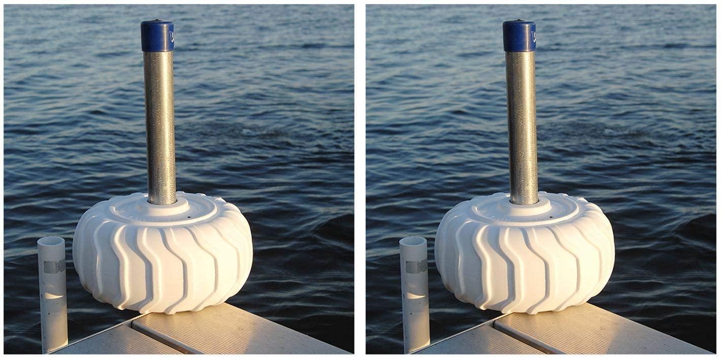 Wave Armor Dock Bumper Wheel Dock Bumper Wheel Durable Non-Marking Poly-Vinyl (2-Pack) - 12