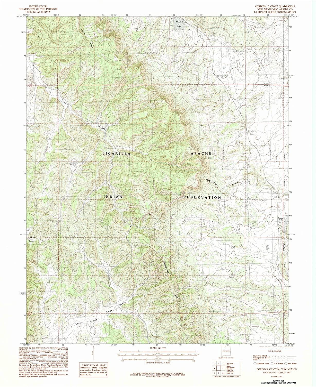 Map Print - Cordova Canyon, New Mexico (1983), 1:24000 Scale - 24