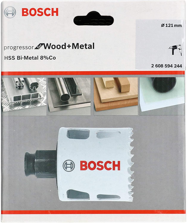 Bosch 2608594244 BiM Progressor Bi Holesaw 8% Cobalt Alloy Progressive Tooth Strip for Wood and Metals Diameter 121 mm
