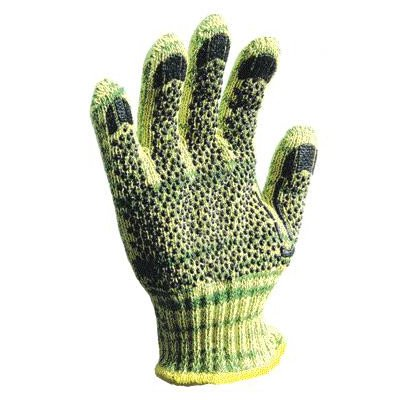 Large Whizard METALGUARD Heavy Weight Para-aramid synthetic fiber, Stainless Steel And Polyester Cut Resistant Gloves With PVC Dots Coating