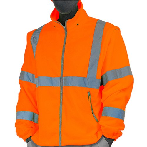 Majestic Glove 75-5382/X3 Fleece Liner, High Visibility, Class 3, 3X-Large, Orange