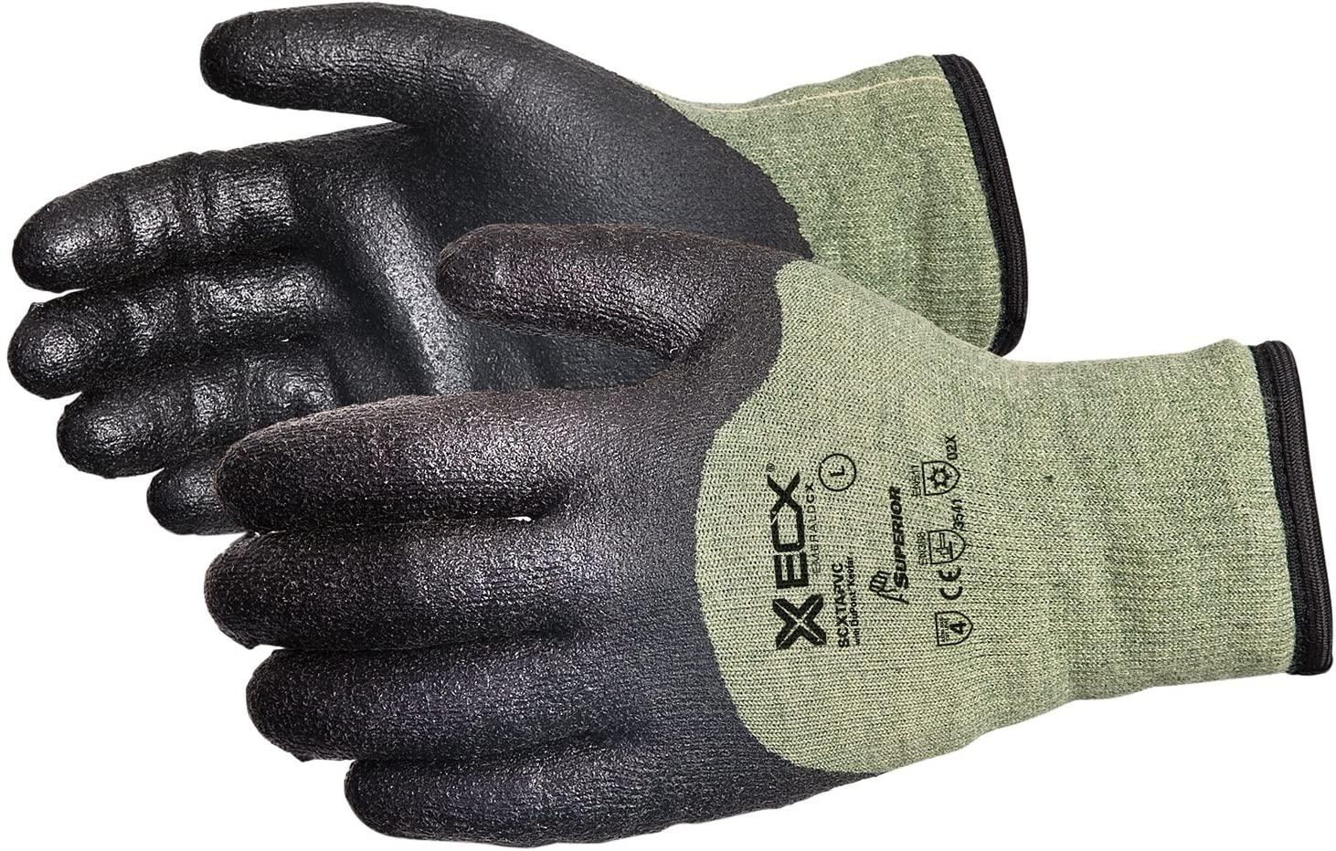 SCXTAPVC/X Emerald CX Cut-Resistant Kevlar/Steel Winter Glove with PVC Palm, Size Extra Large