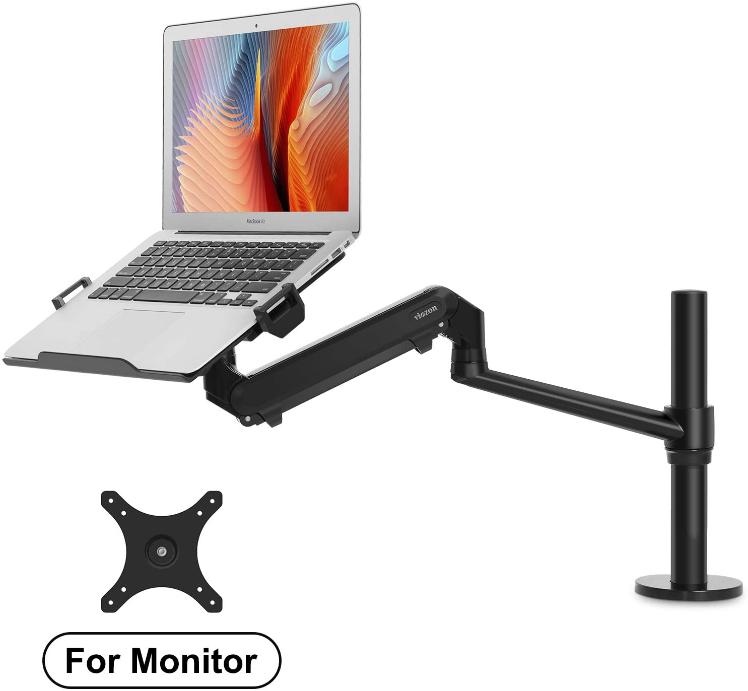 viozon Monitor or Laptop Mount, Single Gas Spring Arm Desk Stand/Holder for 17-32
