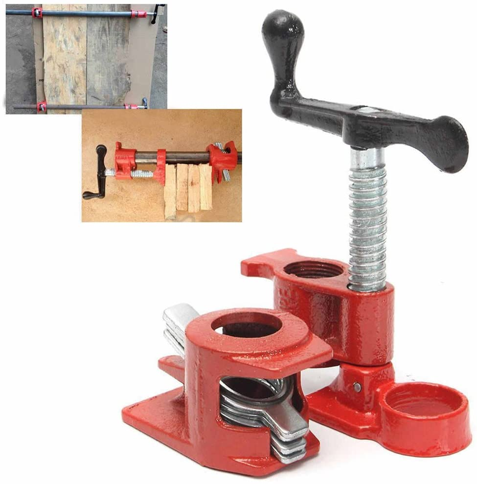 1/2 Inch Cast Iron Heavy Wood Gluing Pipe Clamp Clip Set Woodworking Carpenter Tool Other