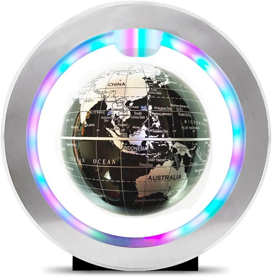 Magnetic Levitating Globe O-Shaped Globe With Led Lights World Map Decor Home Levitating World Globe Gift Decoration,E
