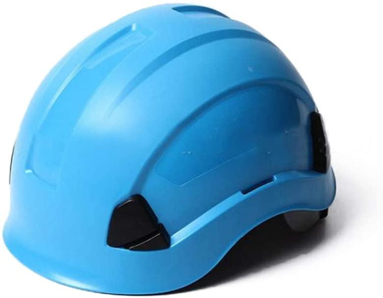 Moolo Hard Hat Construction Safety Helmet, Worker Hard Hat Protective Helmet Construction Outdoor Climbing Safety Helmet (Color : Blue)