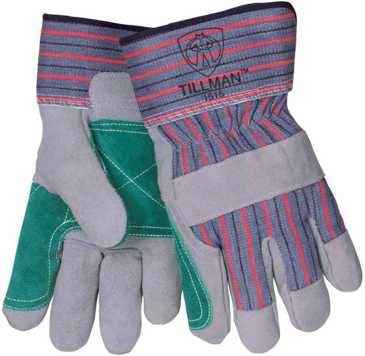 Tillman 1515X Standard Cowhide/Canvas Double Palm Work Gloves, X-Large |Pkg.12