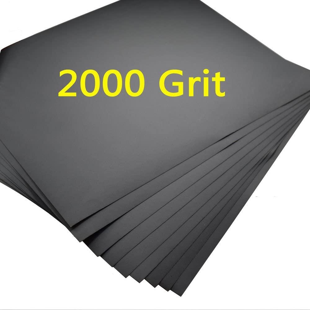 5 Sheets Sandpaper 2000 Grit Waterproof Paper 9
