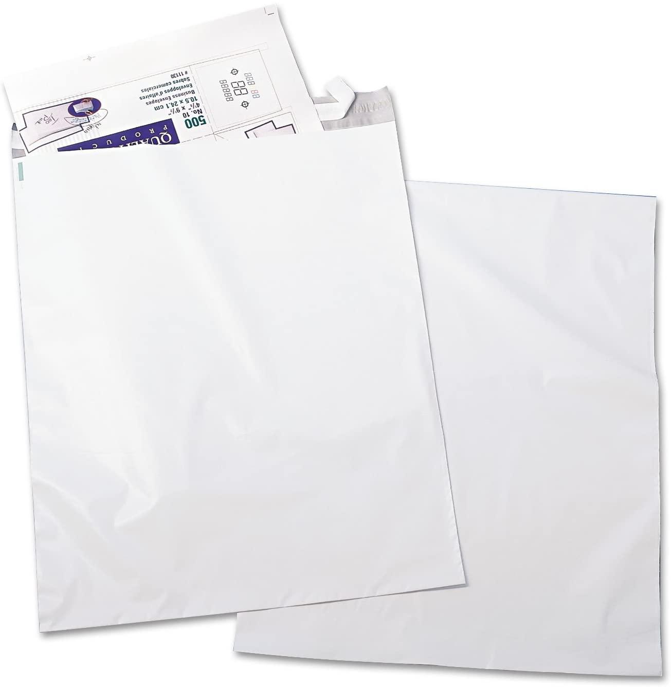 Quality Park 45235 Poly Envelopes,w/Redi-Strip,No Perf,14-Inch x19-Inch,100/PK,White