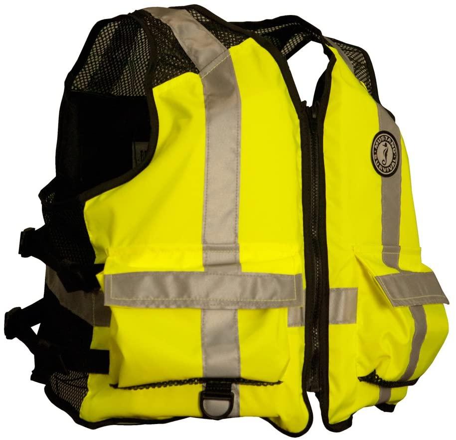 Mustang Survival - MV1254 T3 L/XL - Life Jacket, Yellow/Green, L/XL