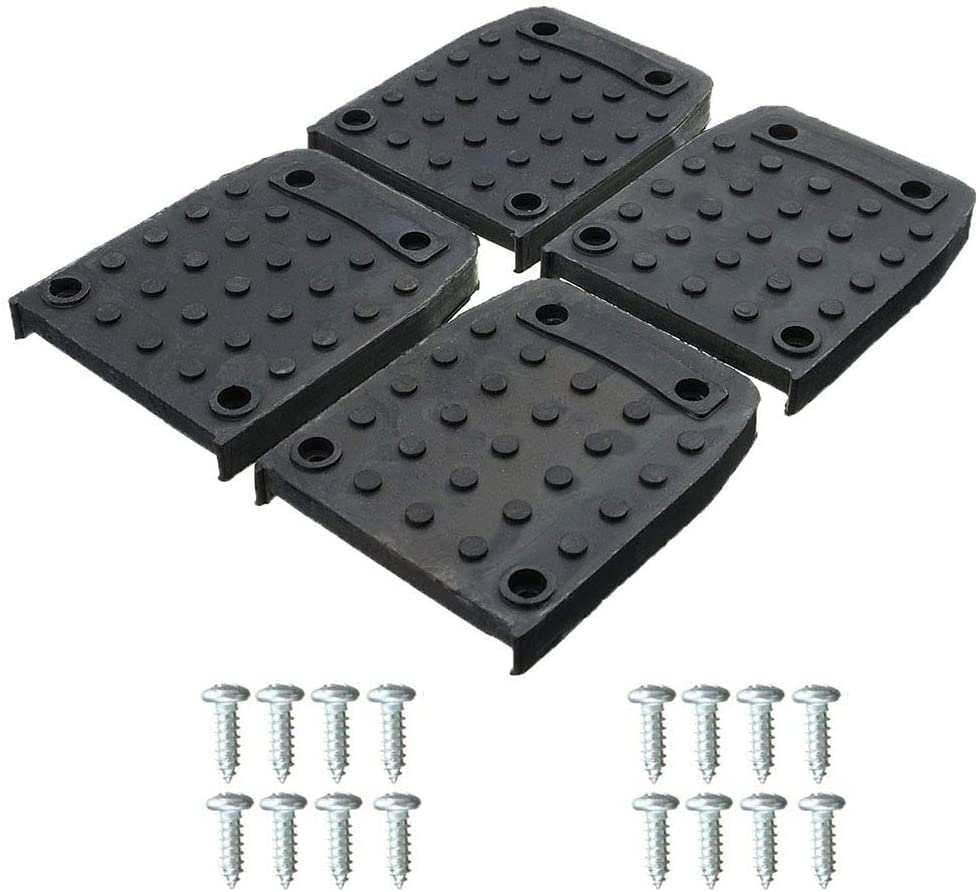 4Pcs Stilt Sole Replacement Kit, Easy Use & Non-Slip Stilts Sole Foot Pads with Screw for Painter, Taping, Painting Pads, Interior Decoration Construction (Black)