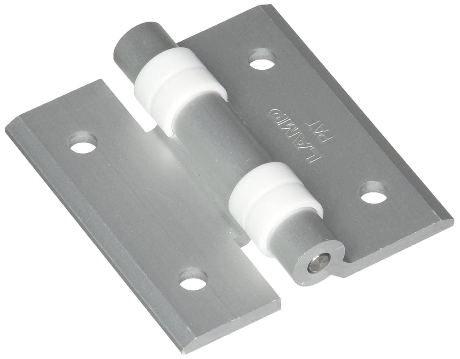Sugatsune HG-CV65 Aluminum Clean Room Butt Hinge with Holes and Bushing, Anodized Finish, 3.5mm Leaf Thickness, 60mm Open Width, 5mm Pin Diameter, 65mm Height