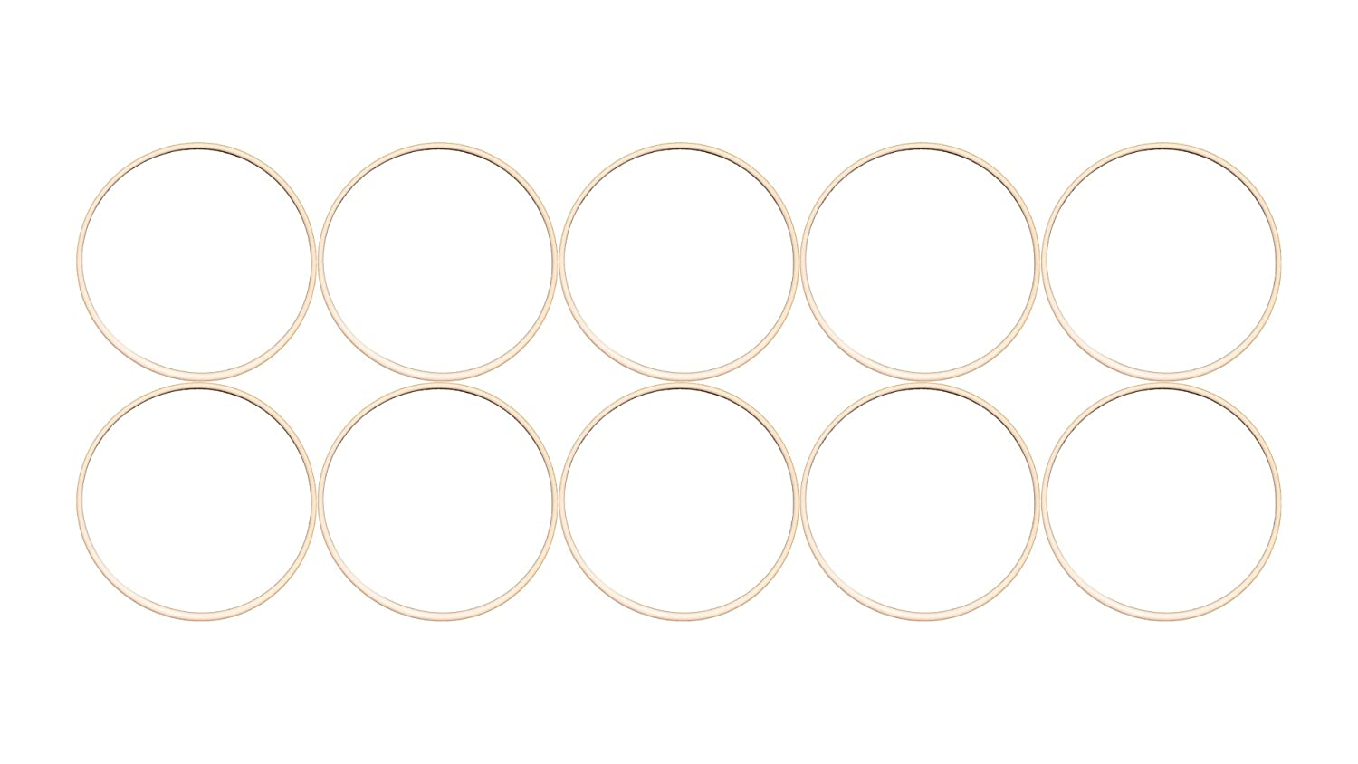 Sterling Seal ORTFE036x10 Number-036 Standard Teflon O-Ring, Outstanding Weather Resistance, Polytetrafluoro-Ethylene, 2-3/8