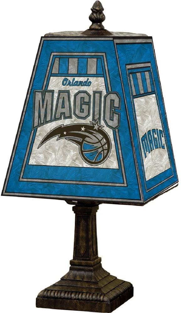 NBA Orlando Magic 14in Art Glass Table Lamp, One Size, Multicolor