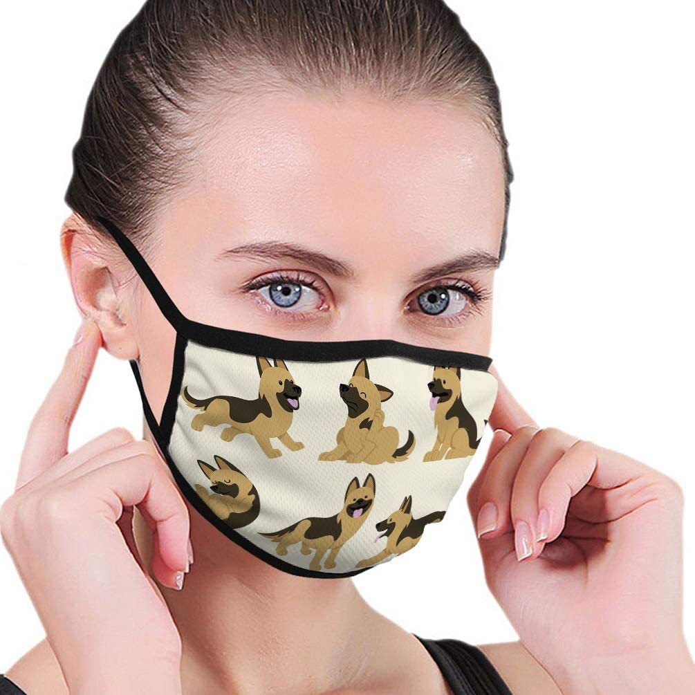 Safety Dustproof Half Face Mouth Shield german shepherd dog set Protective Shield