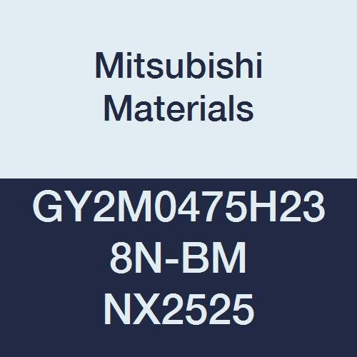Mitsubishi Materials GY2M0475H238N-BM NX2525 Series GY Cermet Grooving Insert for Copying and Medium Feeds 2 Teeth, H Seat, 0.187