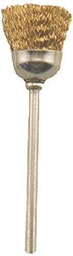 Enkay 1890-4C 1-Inch Wire Wheel, Brass, 1/8-Inch Shank, Carded
