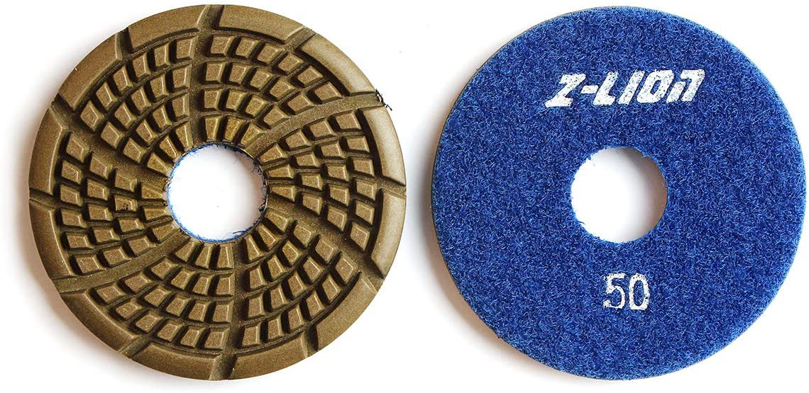 Z-LION 3 Inch Diamond Polishing Pads 50 Grit for Concrete Floor Sanding and Polishing 3-Pcs