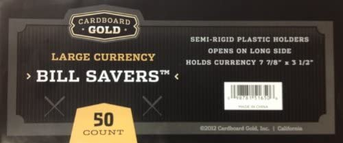 Deluxe Currency Holder Bill Saver - Large Bill
