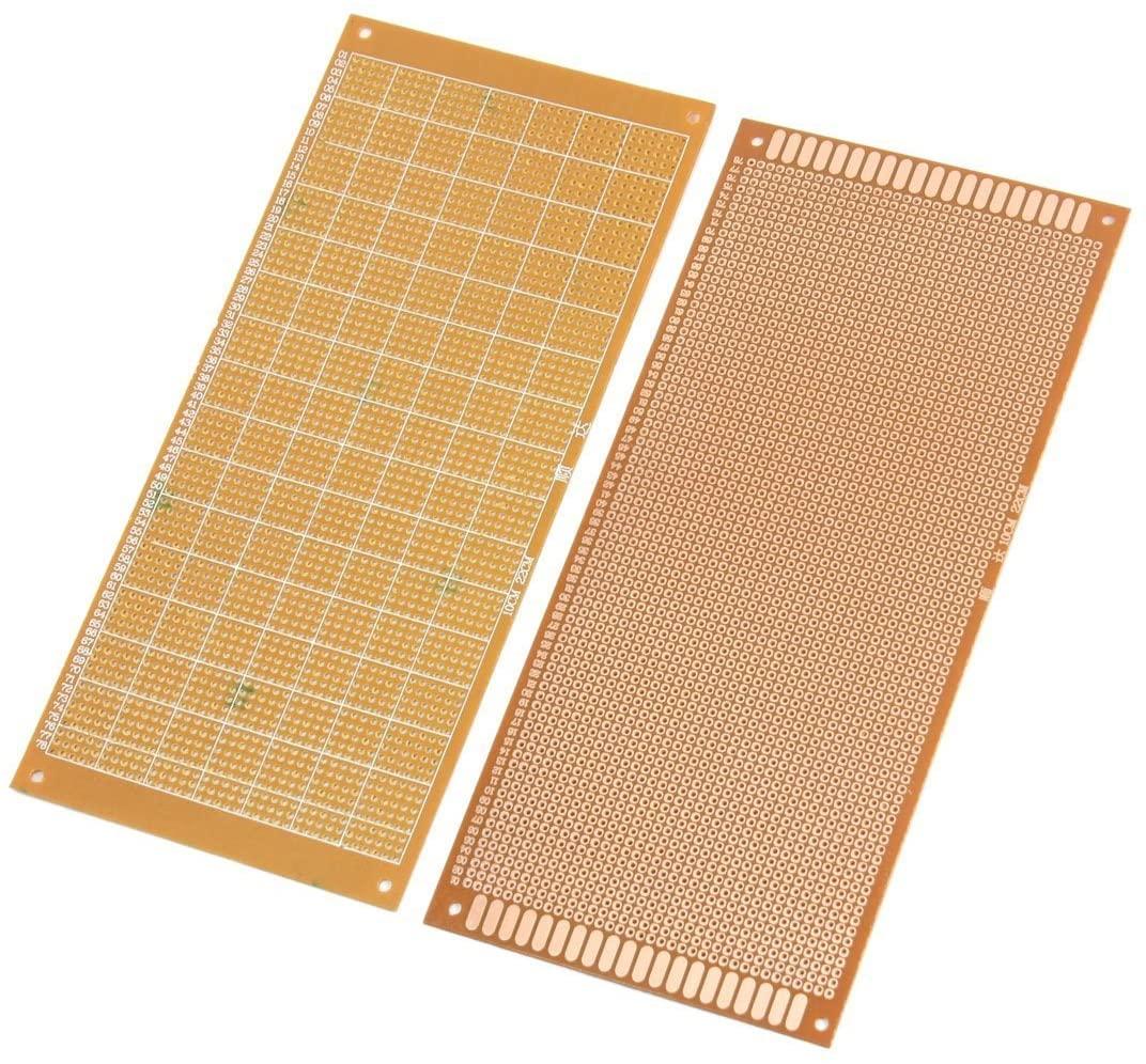 Davitu Electrical Equipments Supplies - 2pcs DIY FR-4 Universal Prototype Solderable PCB Circuit Board 10x22cm