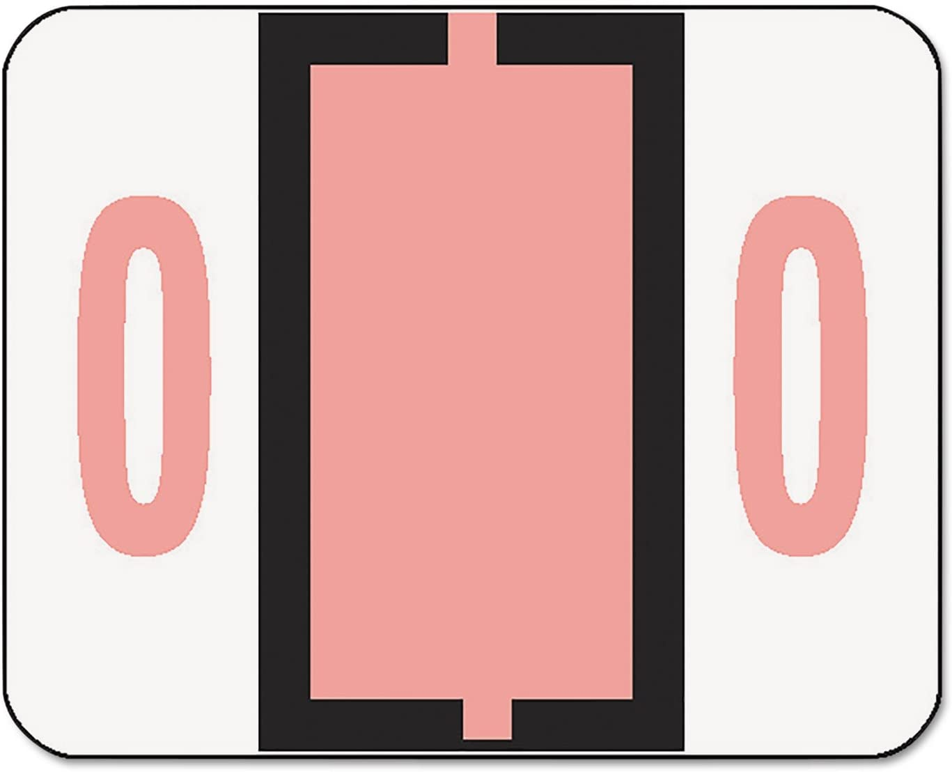 Smead 67370 Single Digit End Tab Labels, Number 0, Pink, 500/Roll