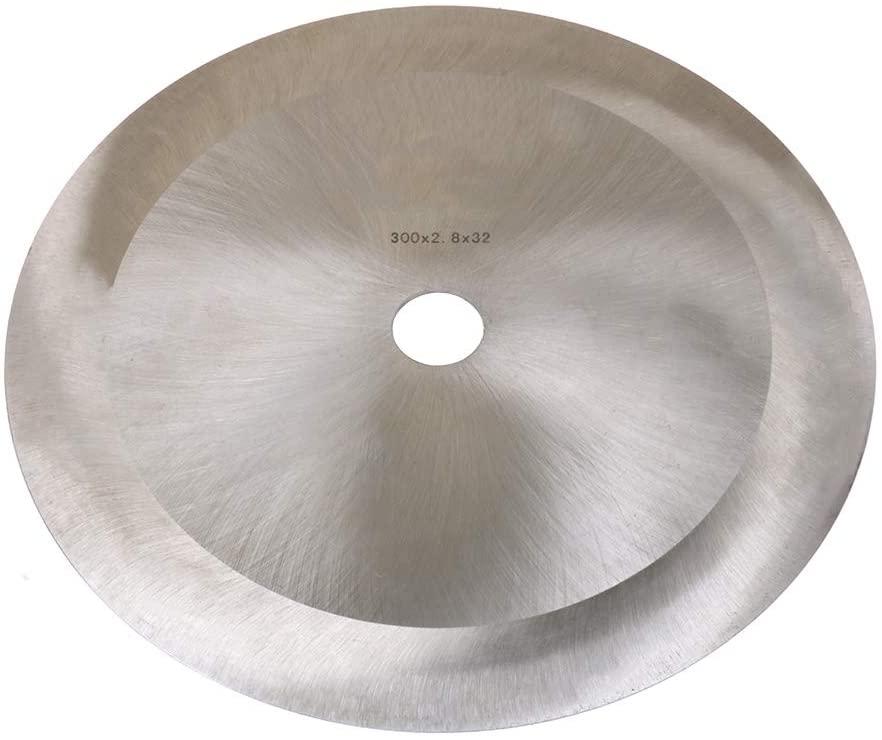 JIUNENG 300x32x2.8mm Paper roll Cutter Knife Circular Saw Blade Cutting Disc,Fabric cutting knife,Paper Round Knife Cloth Cutter Fabric Cutting