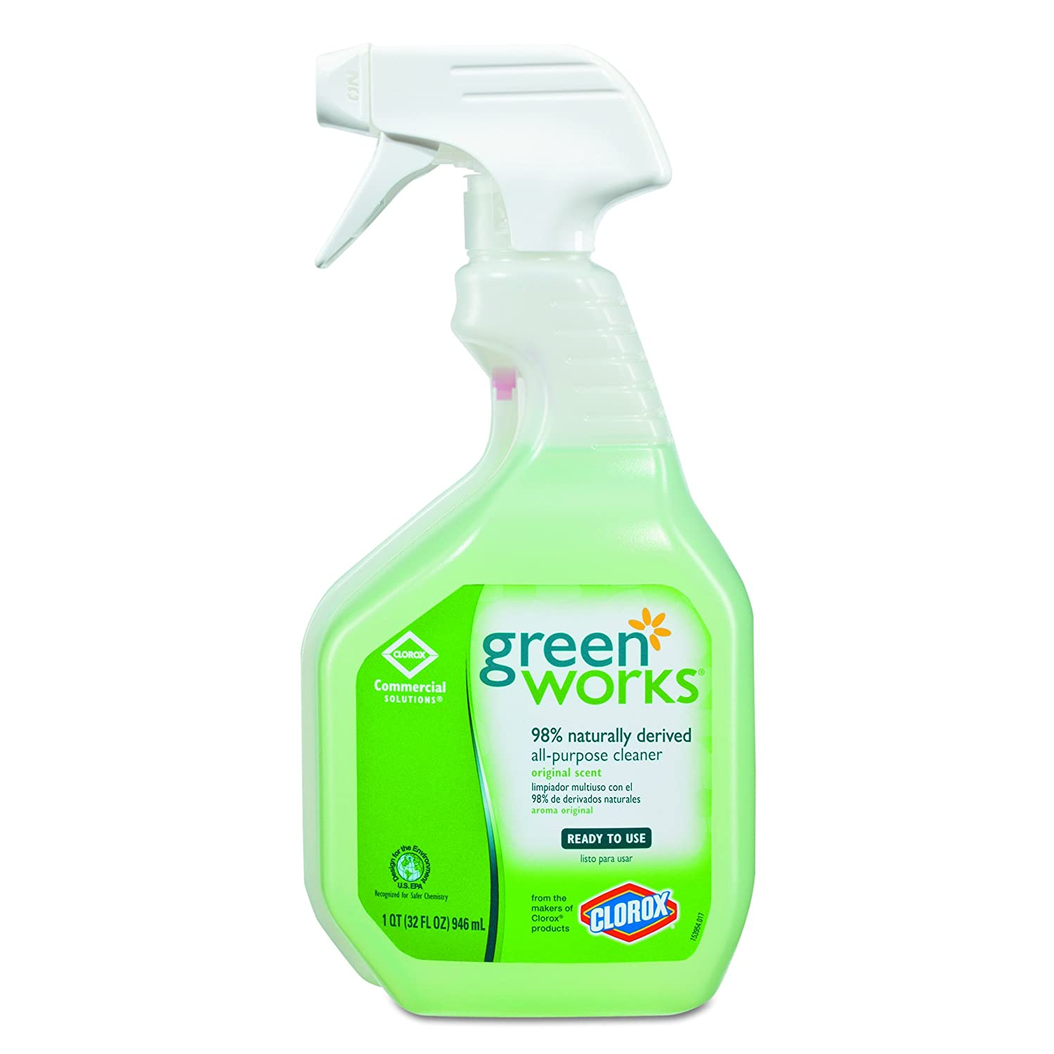 Green Works 00456CT All-Purpose and Multi-Surface Cleaner, Original, 32oz Smart Tube Spray Bottle (Case of 12 bottles)