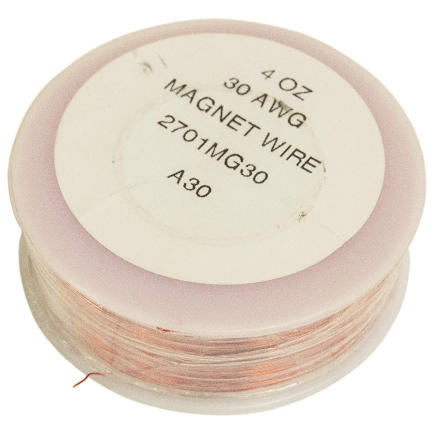 775 Foot 30 Gauge Copper Magnet Wire with Enamel Insulation (1/4 Pound) by Electronix Express