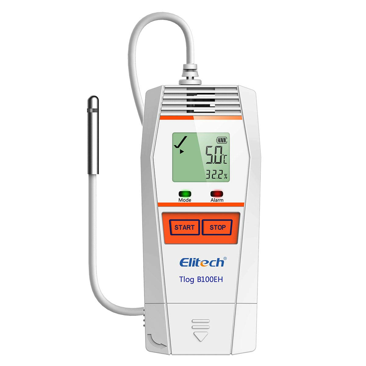 Elitech Tlog B100EH Temperature and Humidity Data Logger Wireless Reusable PDF Report External Sensor 32000 Points