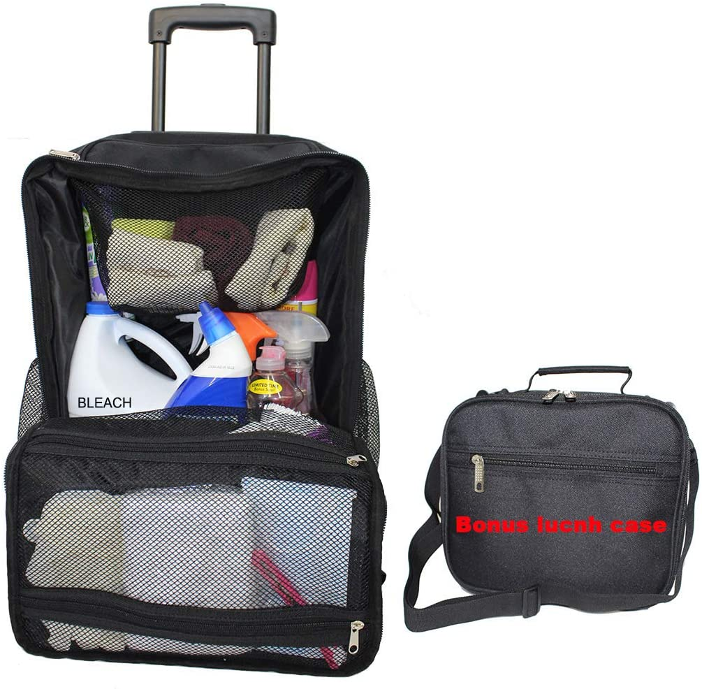 Housekeeper's Rolling Cleaning-Tool Bag Lunch case Heavy Duty