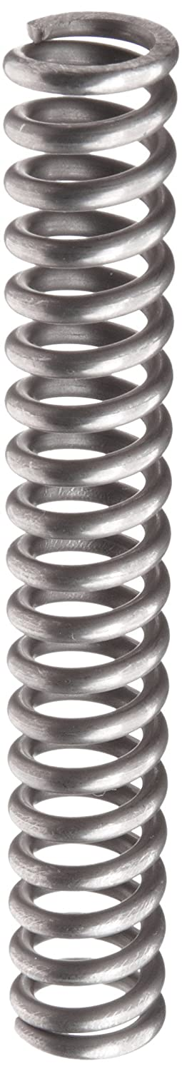 Music Wire Compression Spring, Steel, Metric, 15 mm OD, 2.5 mm Wire Size, 55.09 mm Compressed Length, 98 mm Free Length, 467.77 N Load Capacity, 10.98 N/mm Spring Rate (Pack of 10)