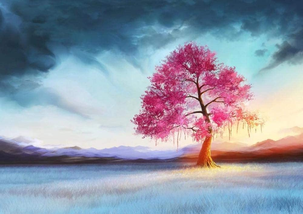Diamond Painting Landscape Tree DIY Cross Stitch Pattern Embroidery Art Wall Sticker Bright Year Gift