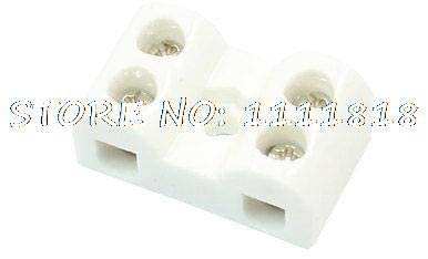 Davitu Terminals - 2W5H 2 Pole 5 Hole Insulating Ceramic Terminal Block Porcelain Connector