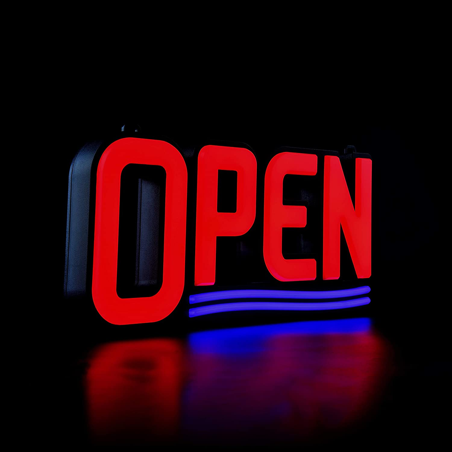 """GreenCube Ultra Bright LED Neon Open Sign – 17"""" x 8"""" - Get Your Business Seen Day or Night"""