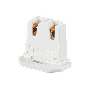 10-Pack LH0619 UL Listed Non-Shunted BJB 26.313.1016.50 Slide On U-Lamp Holder Medium Bi-Pin Socket for Fluorescent Tube Light Replacement-Low Profile
