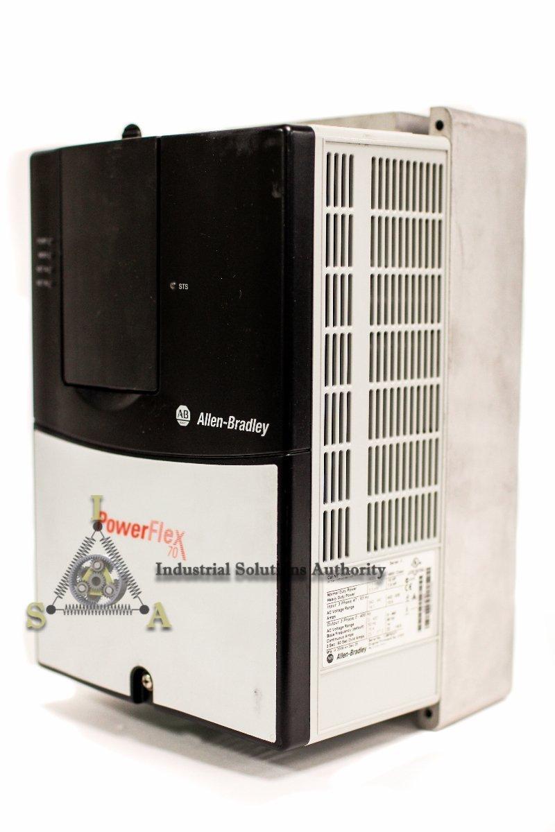 Allen Bradley PowerFlex 70 VFD 20AD014A0AYNADCN 10 HP 480 V 1 Yr Wty