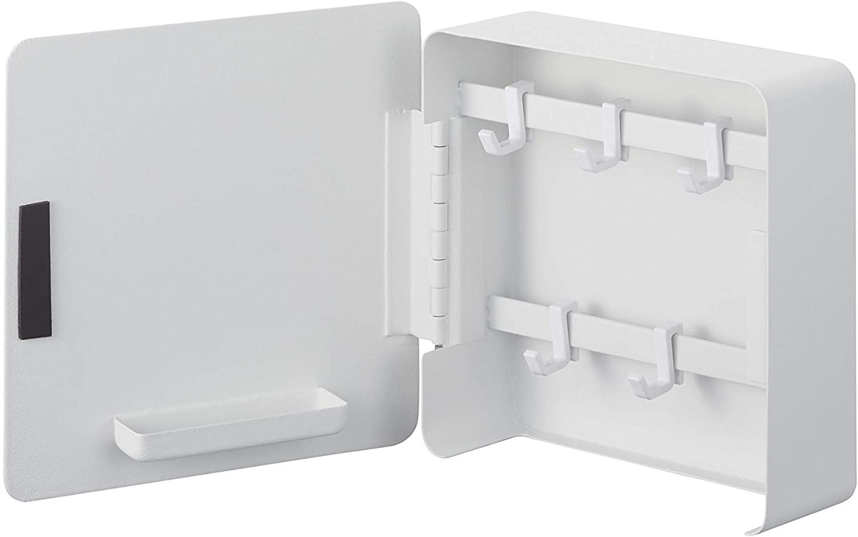 Yamazaki Home Tower Square Magnetic Key Cabinet closet storage and organization systems, One Size, White