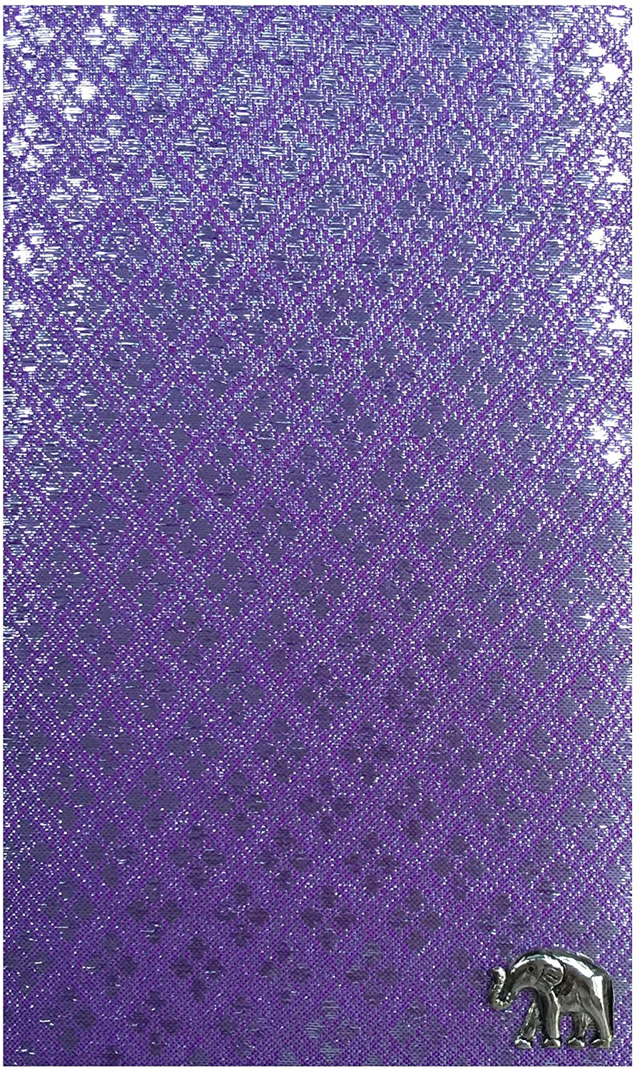 Office Product Light Purple Fabric Guest Check Presenter, Check Book Holder for Restaurant, Checkbook Cover, Waitstaff Organizer, Server Book for Waiters with Money Pocket (With Plastic Cover)
