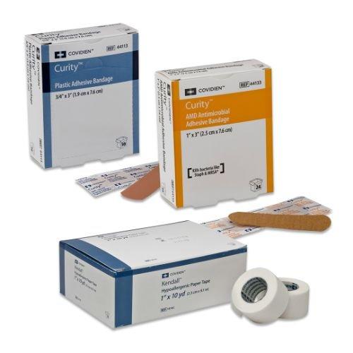 Covidien 44121 Curity Adhesive Bandage, Sensitive Skin, 3/4