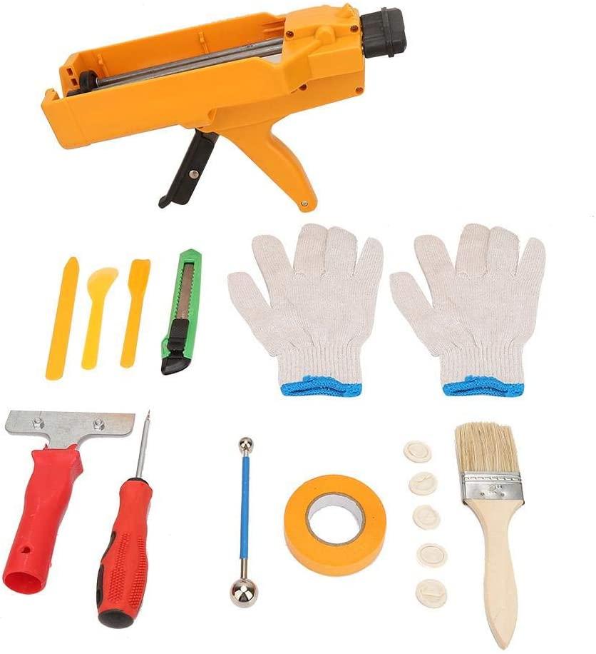 19 Pcs Tile Seam Construction Tool Set Double Tube Hand Caulking Guns Grouting Ball Set Sewing Filling Scraper
