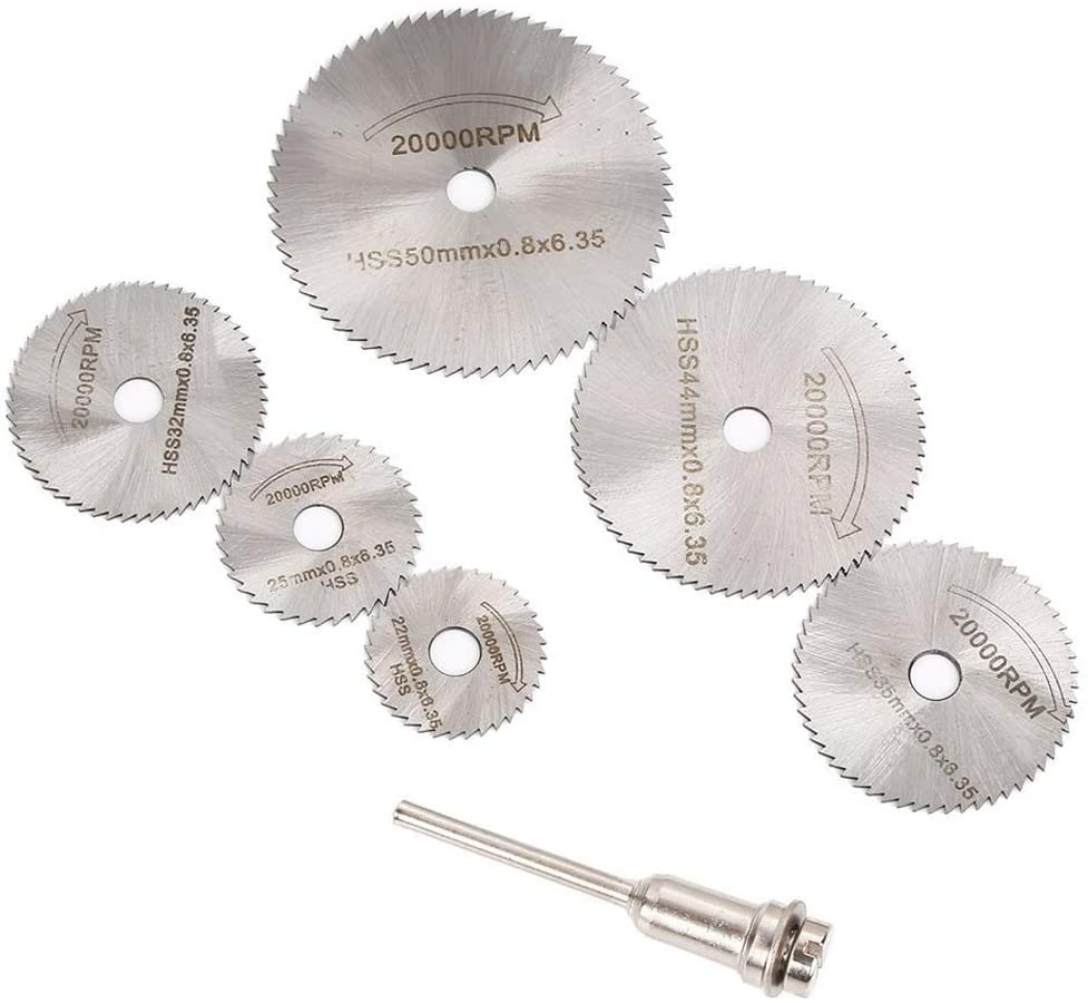22mm 25mm 32mm 35mm 44mm 50mm High Speed Steel Saw Disc Wheel Cutting Replacement Blades with Mandrel For Drills Rotary Metal Cutter Tools
