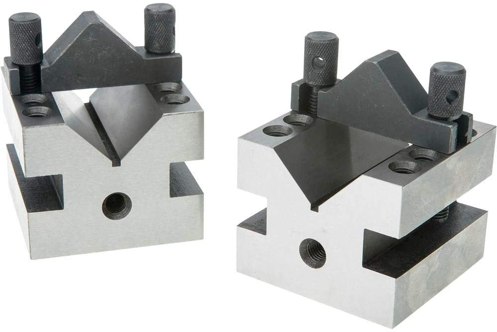 Grizzly Industrial G9816-90 V-Blocks w/Clamp Set - 2-1/2