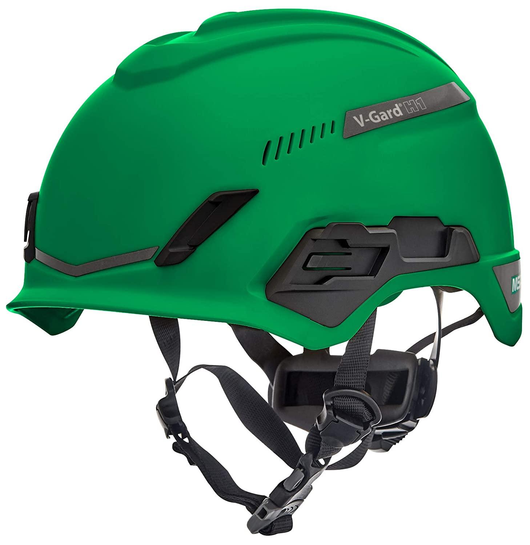 MSA 10194786 H1 V-Gard Helmet, Trivent, FT3PIV, Green