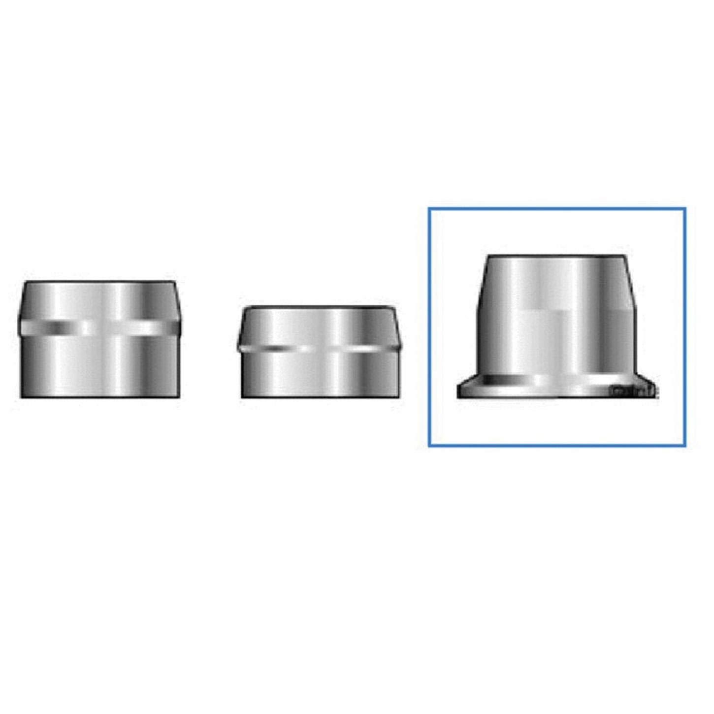 (QS-Quick Ship) Huck HP8 HPCF-R16U Lockbolt Collar; 1/2 Inch (0.500 Inch), RND FLNG Collar, Grade 8 Steel, Zinc CLR TRIV