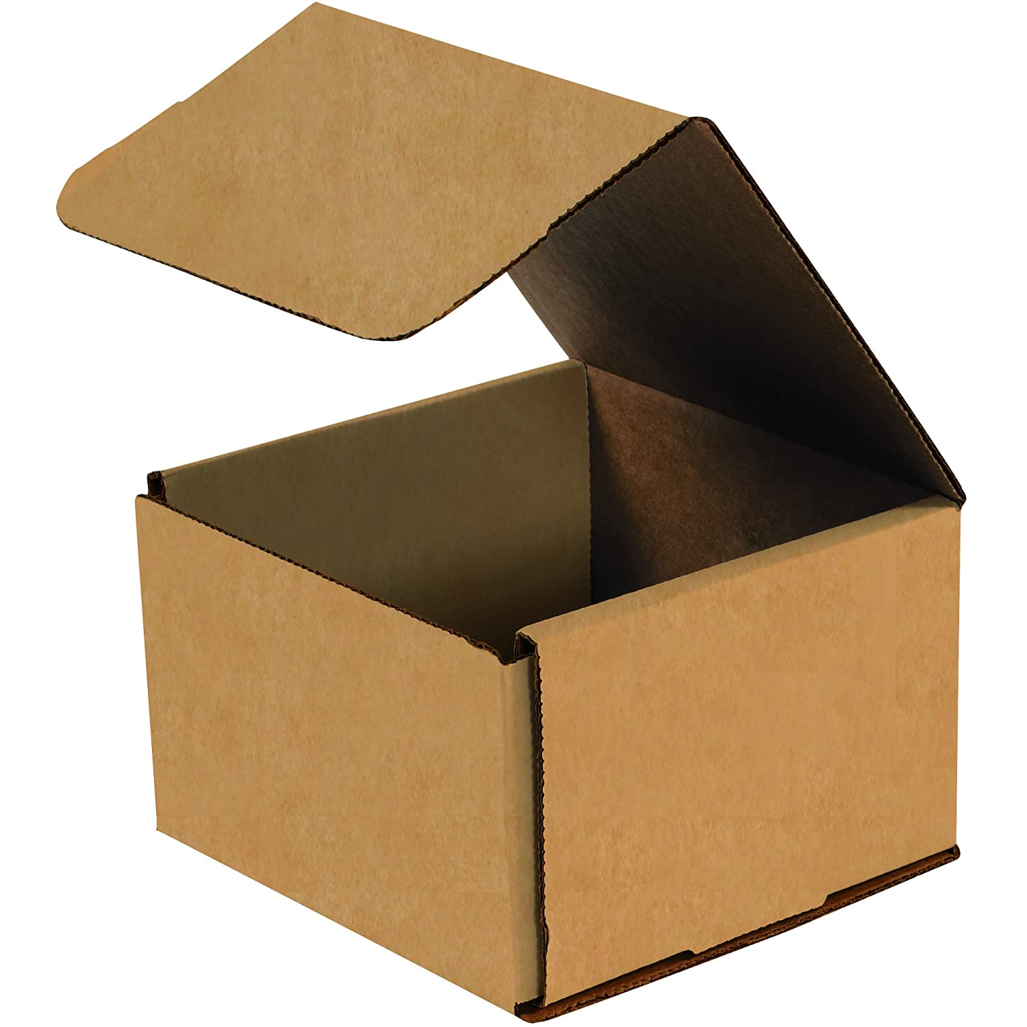 Aviditi Brown Kraft Corrugated Cardboard Mailing Boxes, 8 x 8 x 4 Inches, Pack of 50, Crush-Proof, for Shipping, Mailing and Storing