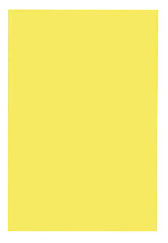 School Smart 085543  Folding Bristol Tagboard,Yellow, 12 W x 18 L (Pack of 100)