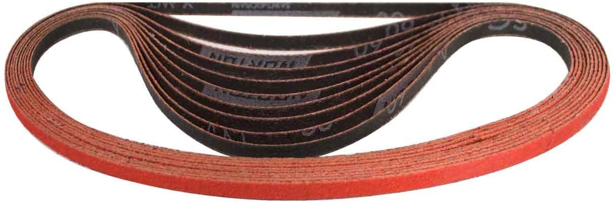 Norton 69957345451 1/4x24 in. Blaze Coated Cloth Belts, 60 Grit, 50 pack