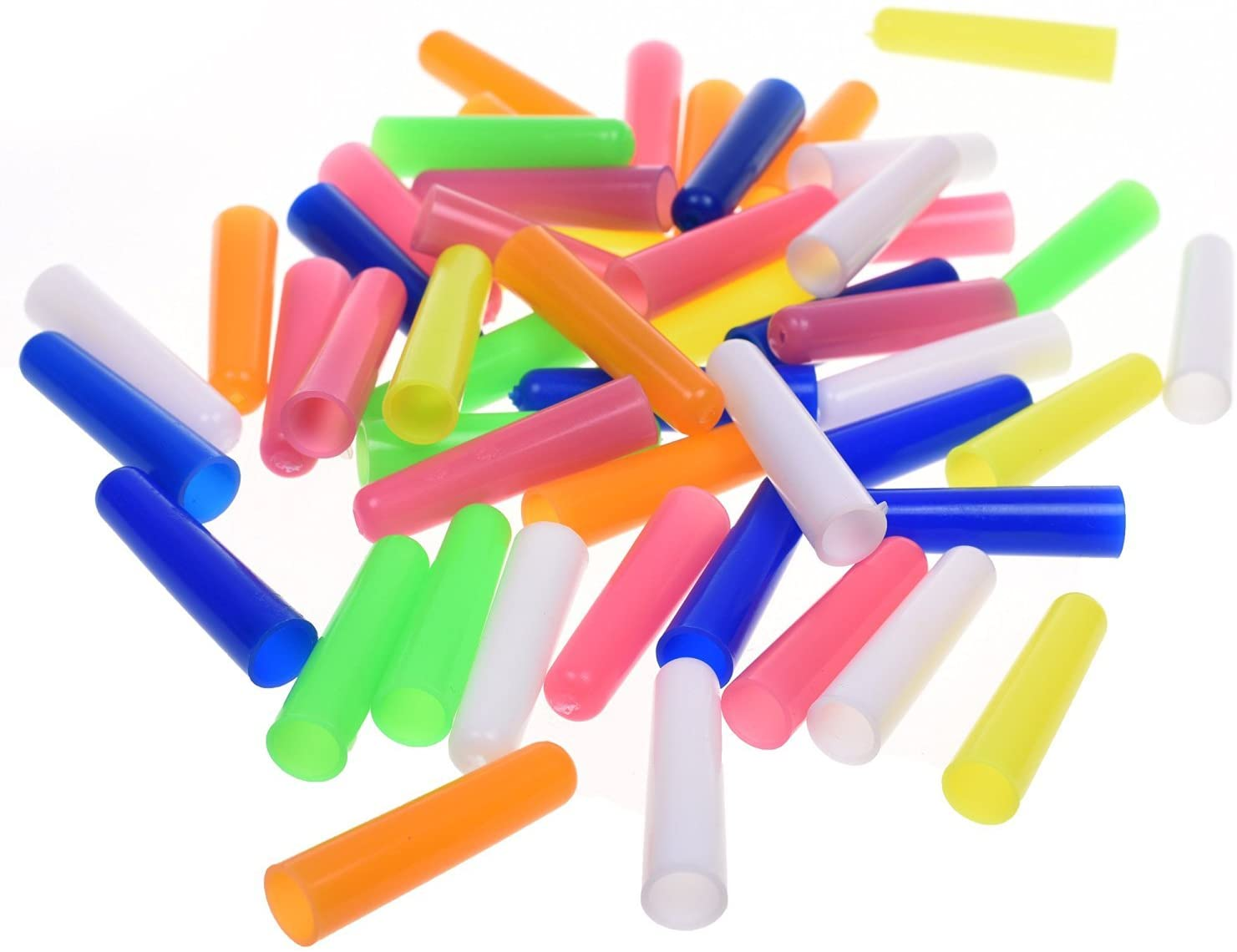 BCP 50pcs Random Color Plastic Pencil Cap Pencil Protector